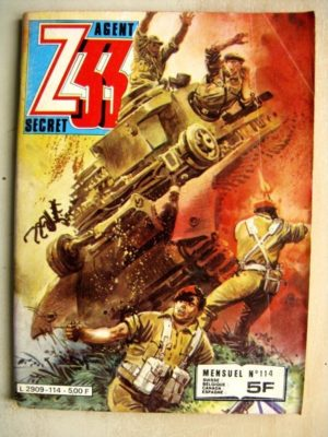 Z33 AGENT SECRET N°114 Tulipes Sanglantes (IMPERIA 1982)