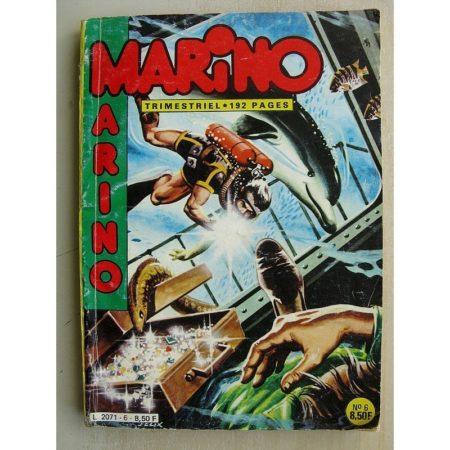 MARINO N°6 La collier sanglant - L'île de feu - Le baron corbeau (flamme de la forêt) Impéria 1984