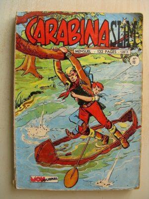 CARABINA SLIM N°13 LE REVOLVER D'OR – LA ROUTE DE L'OUEST (La vengeance des Sioux) Mon Journal 1968