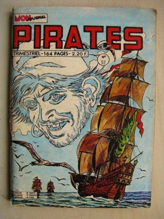 PIRATES n°57 Captain Rik Erik - Gwenn - Kyria l'implacable (MON JOURNAL 1975)
