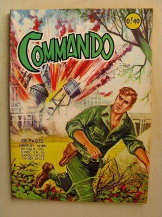 COMMANDO N°45 Le fantôme du tank hanté (Artima 1963)