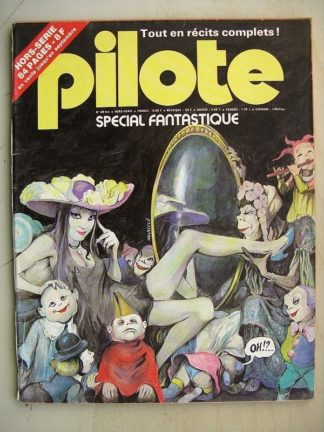PILOTE N°49 Bis Fantastique - Dracurella (Julio Ribera) Vampire (Marcelé) Pemberton - La clandestine (Sirius)
