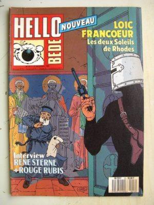HELLO BéDé N°12 Loic Francoeur - Les deux soleils de Rhodes - Sylvain de Rochefort - L'eau et le sang (Thierry Cayman)