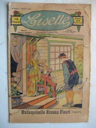 LISETTE n°309 (12 juin 1927) Mademoiselle Roseau Fleuri (Louis Maîtrejean) Mode (Chapeaux d'été)