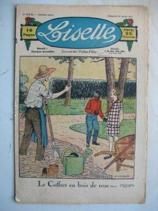 LISETTE n°313 (10 juillet 1927) Le coffret en bois de rose (Le Rallic - Gaël de Saillans)