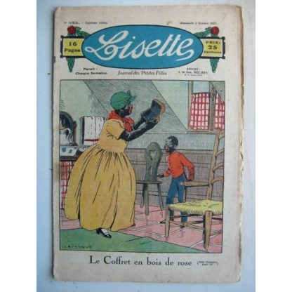 LISETTE n°325 (2 octobre 1927) Le coffret en bois de rose (Le Rallic - Gaël de Saillans) Emmuré (Jean d'Aurian)
