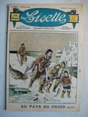LISETTE n°328 (23 octobre 1927) Au pays du froid (Louis Maîtrejean) La jeune bonne (Pierre Dmitrow )