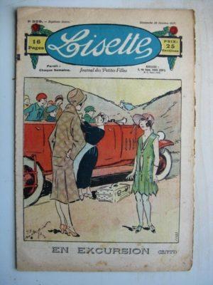 LISETTE n°329 (30 octobre 1927) En excursion (Georges Bourdin) Chez la fée Carabosse (Louis Maîtrejean)
