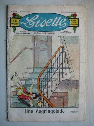 LISETTE n°339 (8 janvier 1928) Une dégringolade (Pierre Dmitrow) Une drôle de fève (Georges Bourdin)