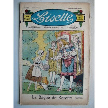 LISETTE n°341 (22 janvier 1928) La bague de Rosette (Louis Maîtrejean) Le coffret en bois de rose (Le Rallic - Gaël de Saillans