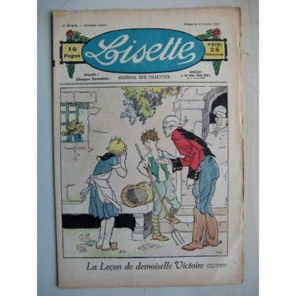LISETTE n°343 (5 février 1928) La leçon de Demoiselle Victoire (Luis Maîtrejean) Le coffret en bois de rose (Le Rallic)
