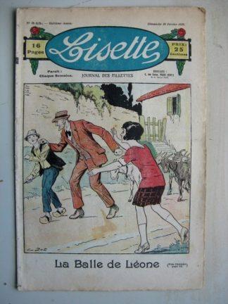 LISETTE n°345 (19 février 1928) La balle de Léone (Emile Dot) Le voyage de la cygale (Siana)