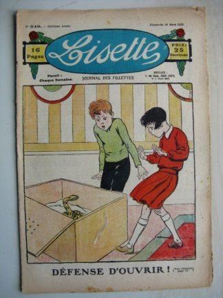 LISETTE n°349 (18 mars 1928) Linette et son vieux bredaine (Louis Maîtrejean) Le groupe (Georges Bourdin)