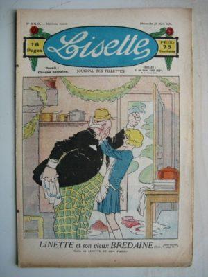 LISETTE n°350 (25 mars 1928) Linette et son vieux bredaine (Louis Maîtrejean) Poupée Lisette (Chemise-enveloppe)