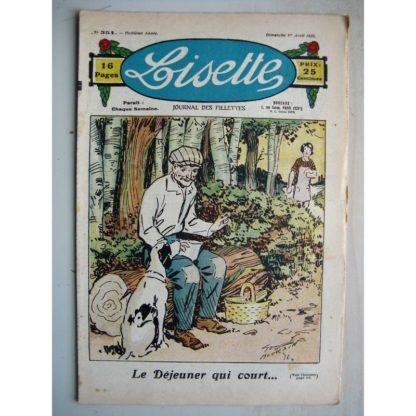 LISETTE n°351 (1er avril 1928) Linette et son vieux bredaine (Louis Maîtrejean) Le déjeuner qui court (Georges Bourdin)