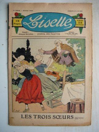 LISETTE n°353 (15 avril 1928) Linette et son vieux bredaine (Louis Maîtrejean) Les trois soeurs (Emile Dot)