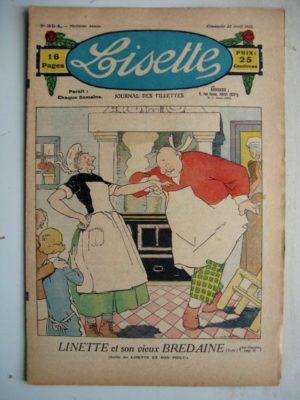 LISETTE N°354 (22 avril 1928) Linette et son vieux bredaine (Louis Maîtrejean) Pour une aiguille (Colette May)