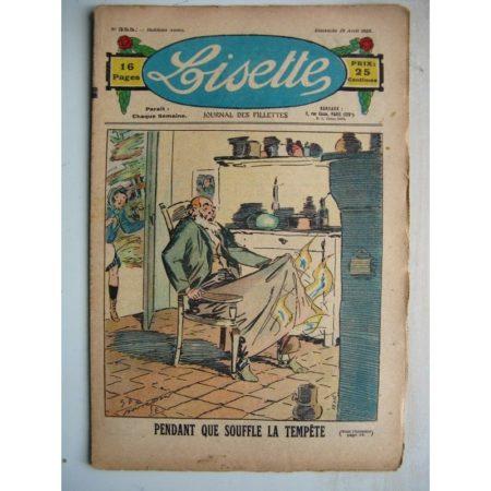 LISETTE n°355 (29 avril 1928) Linette et son vieux bredaine (Louis Maîtrejean) La tempête (Georges Bourdin)