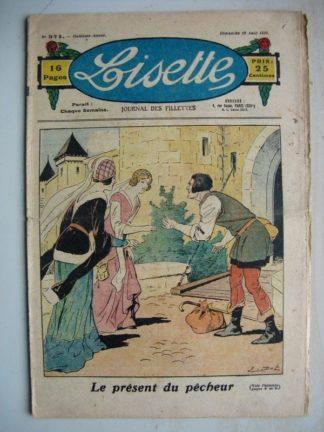 LISETTE n°371 (19 août 1928) Le présent du pêheur (Emile Dot) Linette et son vieux bredaine (Louis Maîtrejean)
