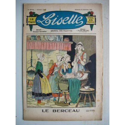 LISETTE n°375 (16 septembre 1928) Le berceau (Louis Maîtrejean) Linette et son vieux bredaine