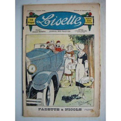LISETTE n°376 (23 septembre 1928) Fadette et Nicole (Georges Bourdin) Le millefeuille (Madeleine Léonce Petit)