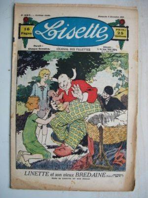 LISETTE N°387 (9 décembre 1928) Linette et son vieux bredaine (Louis Maîtrejean) La petite soeur de Jean-Luc (Colette May)