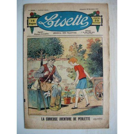 LISETTE n°390 (30 décembre 1928) L'aventure de Perlette (Louis Maîtrejean) Au temps des diligences (Gaël de Saillans)