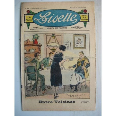 LISETTE n°38 (21 septembre 1930) Entre voisines (Georges Bourdin) Poupée Lisette (tablier)