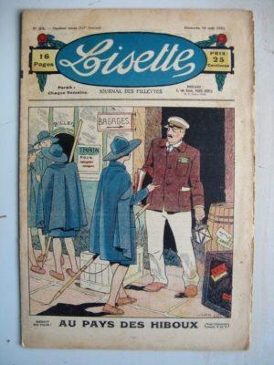 LISETTE N°33 (16 août 1931) Au pays des hiboux (Louis Maîtrejean) La ceinture bleue (Jean Farat)