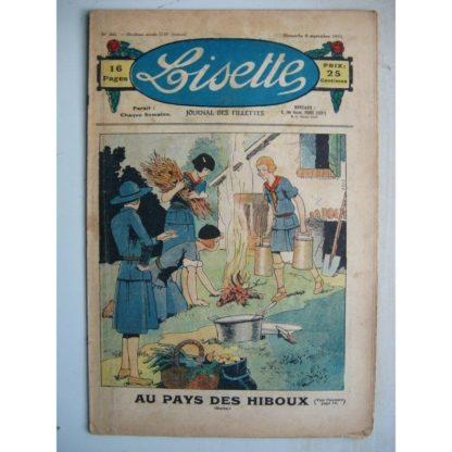 LISETTE n°36 (6 septembre 1931) Au pays des hiboux (Maîtrejean) Le collier de Mamamissa (Madeleine Léonce Petit)