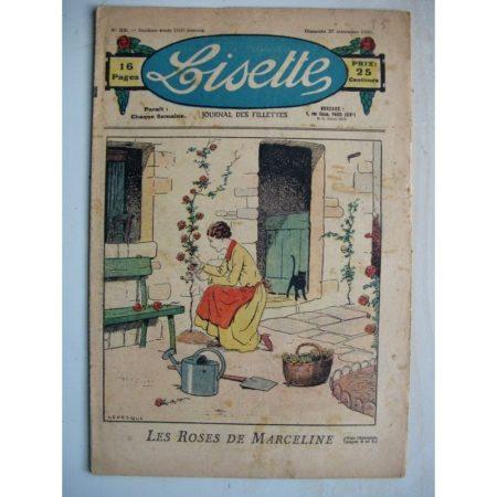 LISETTE n°39 (27 septembre 1931) Les roses de Marceline (Le Rallic) Village d'Auvergne (Siana)