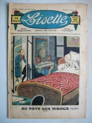 LISETTE N°40 (4 octobre 1931) Au pays des hiboux (Louis Maîtrejean) Katine la sorcière (Emile Dot – Gaël de Saillans)