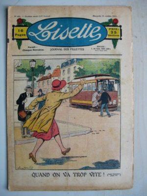 LISETTE N°41 (11 octobre 1931) Quand on va trop vite (Emile Dot) L'arbre à or