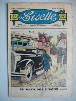 LISETTE N°43 (25 octobre 1931) Au pays des hiboux (Louis Maîtrejean) Miss Brown (Madeleine Léonce Petit)