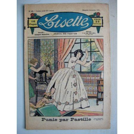 LISETTE n°45 (8 novembre 1931) Punie par Pastille (John) Au pays des hiboux (Louis Maîtrejean)