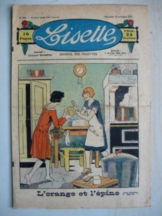 LISETTE n°48 (29 novembre 1931) L'orange et l'épine (John) Au pays des hiboux (Louis Maîtrejean)