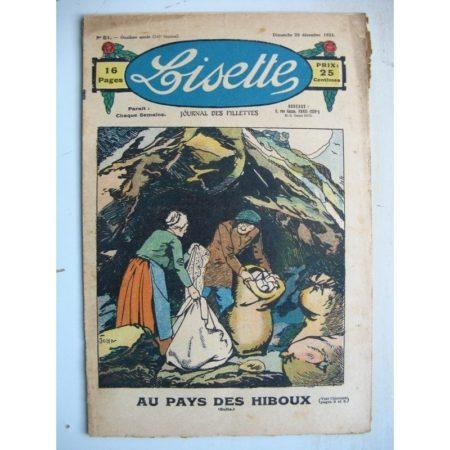 LISETTE n°51 (20 décembre 1931) Au pays des hiboux (Louis Maîtrejean) Bouton d'or et la souris (Jean Farat)