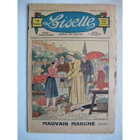 LISETTE n°1 (3 janvier 1932) Mauvais marché (Louis Maîtrejean) Le noël de Maryana Strewska (Levesque)
