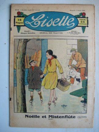 LISETTE n°6 (7 février 1932) Noëlle et Mistenflûte (Le Rallic) Poupée Lisette (Déguisement escargot)