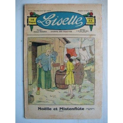 LISETTE n°7 (14 février 1932) Noëlle et Mistenflûte (Le Rallic) Souricette (Maurice Cuvillier)