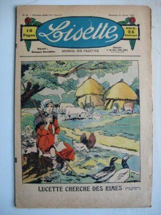 LISETTE n°8 (21 février 1932) Lucette cherche ds rimes (Louis Maîtrejean) Poupée Lisette (Combinaison coquette)