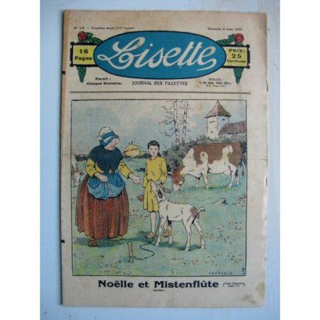 LISETTE n°10 (6 mars 1932) Noëlle et Mistenflûte (Le Rallic) Lecture passionante (Arsène Brivot)