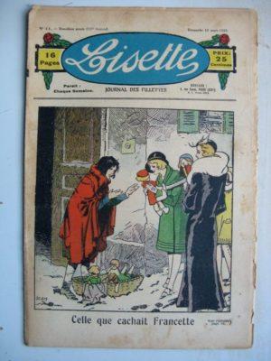 LISETTE N°11 (13 mars 1932) Francette (Louis Maîtrejean) Noëlle et Mistenflûte (Le Rallic)