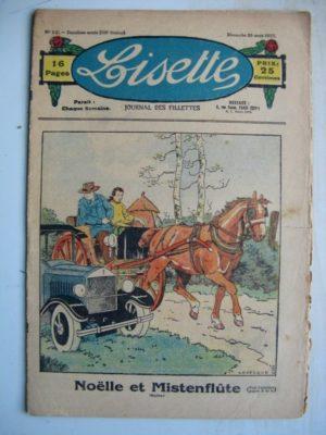 LISETTE N°12 (20 mars 1932) Noëlle et Mistenflûte (Le Rallic) Le jardin (Maurice Cuvillier)