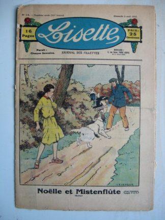 LISETTE n°14 (3 avril 1932) Noëlle et Mistenflûte (Le Rallic) Poupée Lisette (Chapeau en tissu)