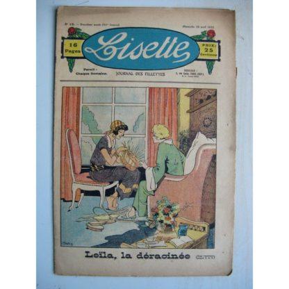LISETTE n°15 (10 avril 1932) Leïla, la déracinée (Louis Maîtrejean) Noëlle et Mistenflûte (Le Rallic)