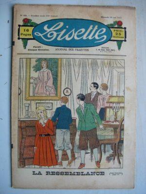 LISETTE N°22 (29 mai 1932) La ressemblance (Louis Maîtrejean) Poupée Lisette (Robe en tissu fantaisie)