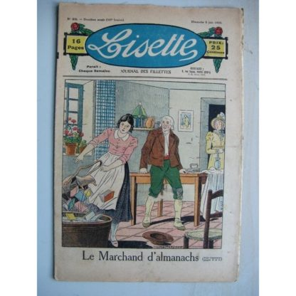 LISETTE n°23 (5 juin 1932) Le marchand d'almanachs (Louis Maîtrejean) Noëlle et Mistenflûte (Le Rallic)