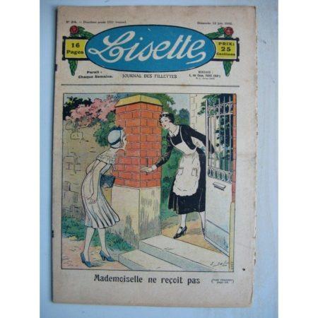 LISETTE n°24 (12 juin 1932) Mademoiselle ne reçois pas (Emile Dot) Poupée Lisette (tablier)