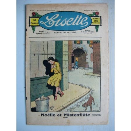 LISETTE n°26 (26 juin 1932) Noëlle et Mistenflûte (Le Rallic) Légende de la coiffe en coeur (Yves Gohanne)